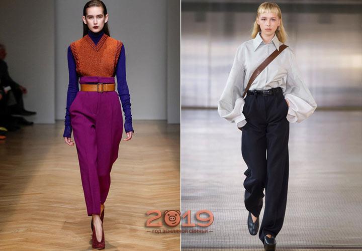 Модные цветные брюки осень-зима 2018-2019