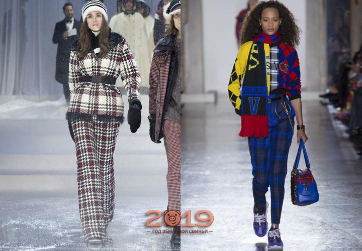Модные брюки в клетку осень-зима 2018-2019