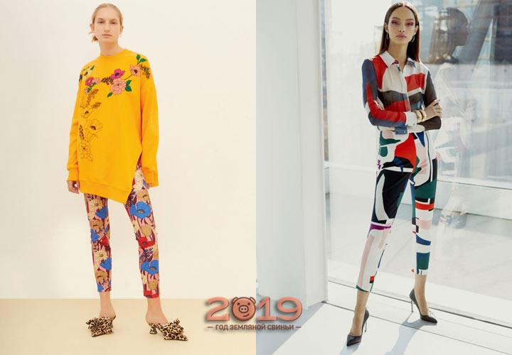 Модные брюки с принтом осень-зима 2018-2019