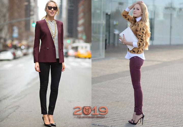 Зауженные модели женских брюк на 2018-2019 год