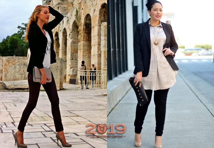 Узкие черные брюки 2018-2019