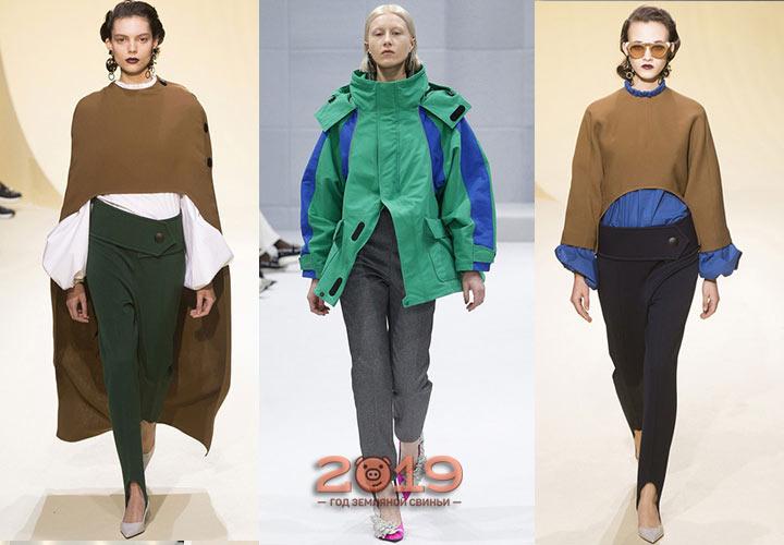 Брюки со штрипками осень-зима 2018-2019
