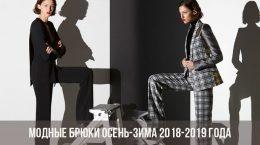 Модные брюки осень-зима 2018-2019 года