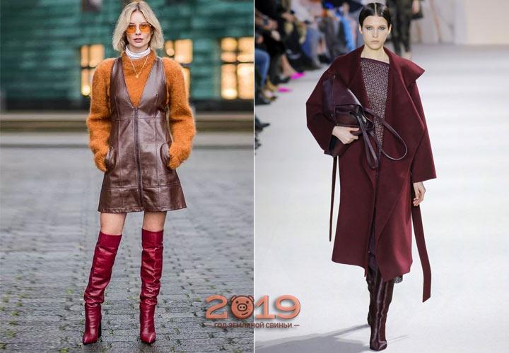 Оттенок красной груши мода 2018-2019 года