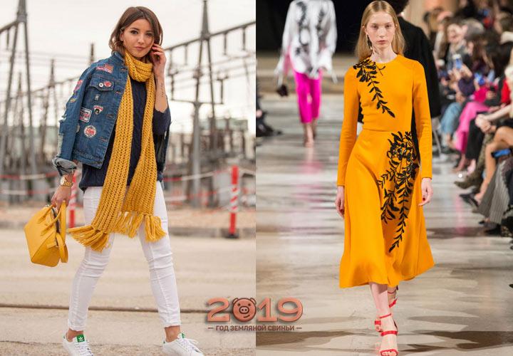 Модный оранжевый зима 2018-2019 года