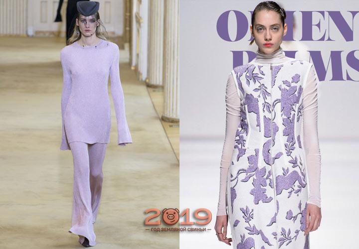 Crocus Petal модный оттенок палитры Пантон зима 2018-2019