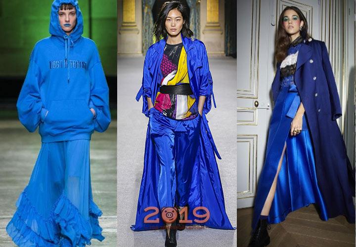 Оттенок Nebulas Blue палитры Пантон 2018-2019 года