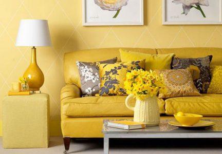 Желтый оттенок в интерьере