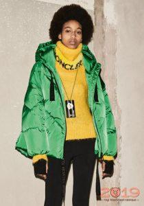 Зеленая куртка зима 2018-2019