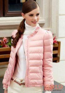 Розовая куртка зима 2018-2019