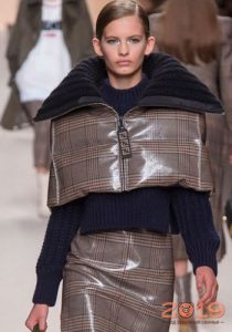 Клетчатая куртка зима 2018-2019