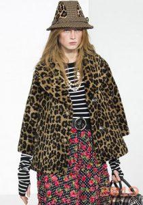 Леопардовая куртка зима 2018-2019