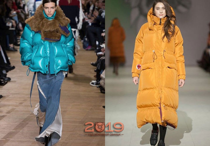 Яркие модели курток зима 2018-2019