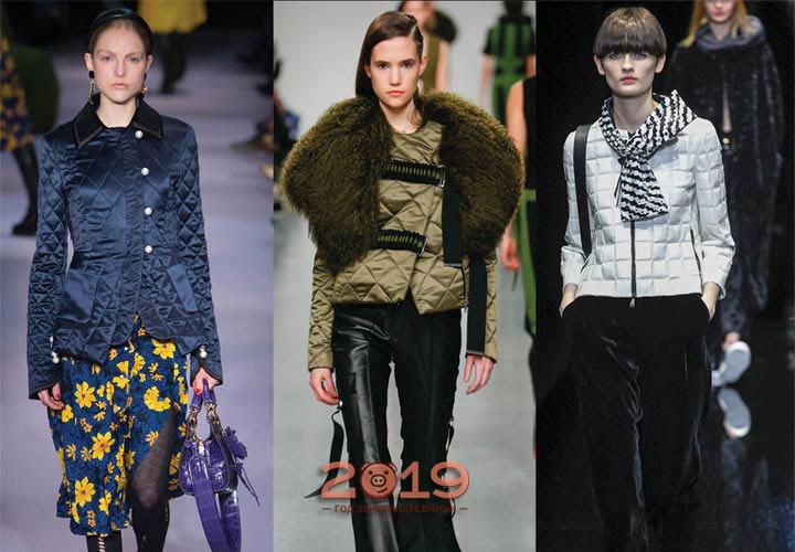 Стеганые куртки 2018-2019 года