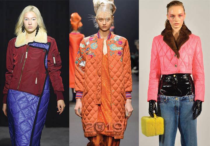 Дизайнерские стеганые куртки зима 2019 года