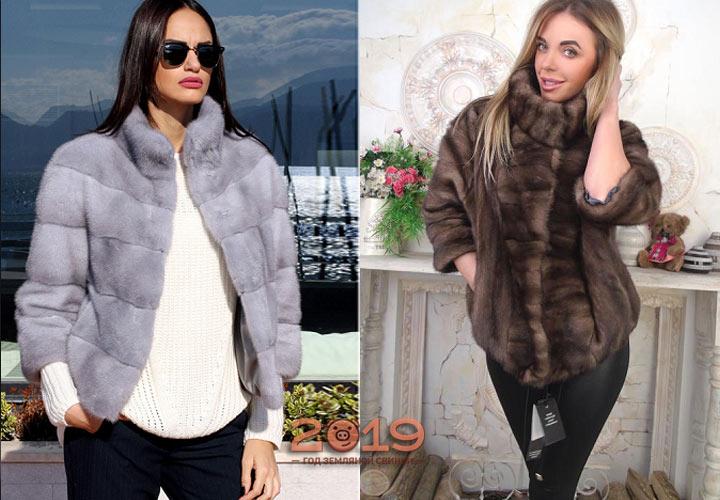 Меховая куртка осень-зима 2018-2019