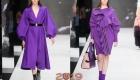 Модные сиреневые пальто осень-зима 2018-2019 года