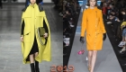Модные желтые пальто осень-зима 2018-2019 года