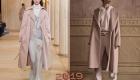 Модные кремовые пальто зима 2018-2019