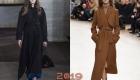 Длинное пальто 2018-2019 года