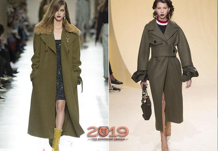 Пальто милитари осень-зима 2018-2019 года