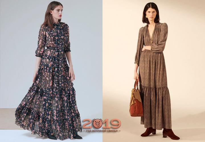 Дизайнерские платья зима 2018-2019
