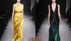 Модные атласные платья зима 2018-2019