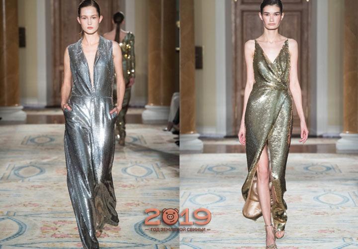 Блестящее платье зима 2018-2019 года
