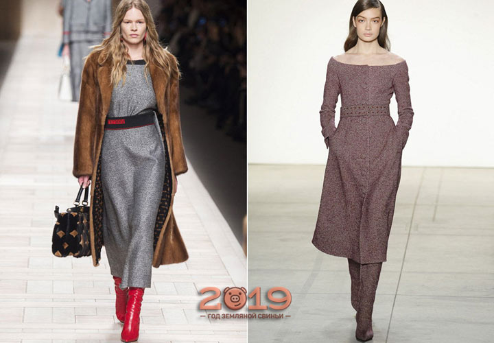 Платье из теплой ткани зима 2018-2019
