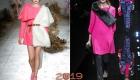 Платье с меховым декором зима 2018-2019