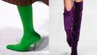 Яркие оттенки женской обуви