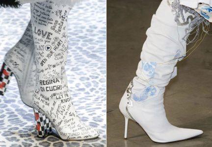 Модные белые сапоги 2018-2019 года