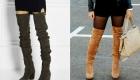 Модные замшевые сапоги 2018-2019 года