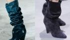 Приспущенные сапожки мода 2018-2019 года