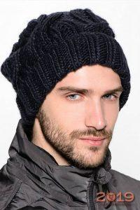 Мужская шапка грубой вязки