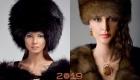 Зимние меховые шапки для женщин