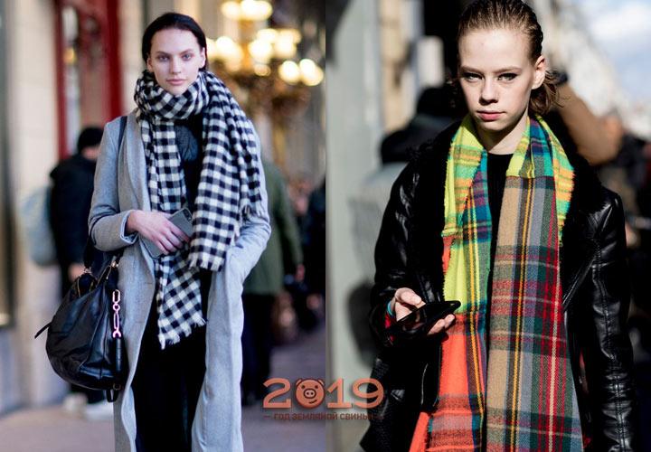 Модные клетчатые шарфы