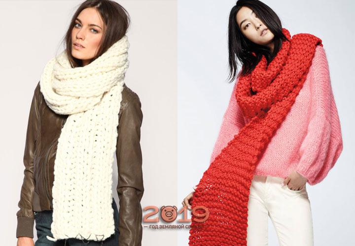 Модные широкие шарфы 2018-2019 года