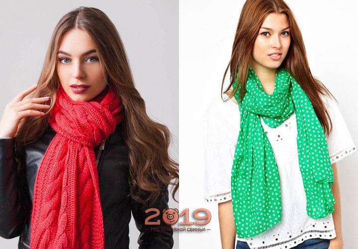 Яркие оттенки модных шарфов
