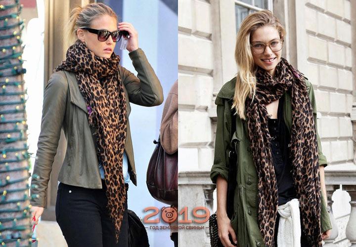 Модный шарф с анималистическим принтом