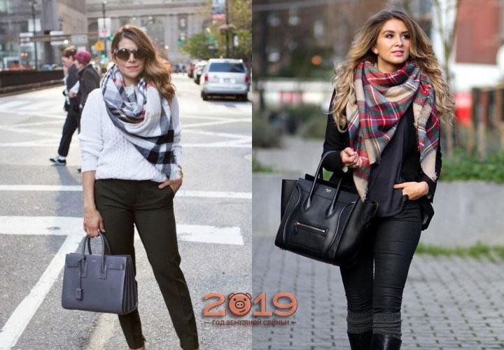 Шарфы мода зимы 2018-2019 года