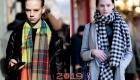 Модный клетчатый шарф 2018-2019 года