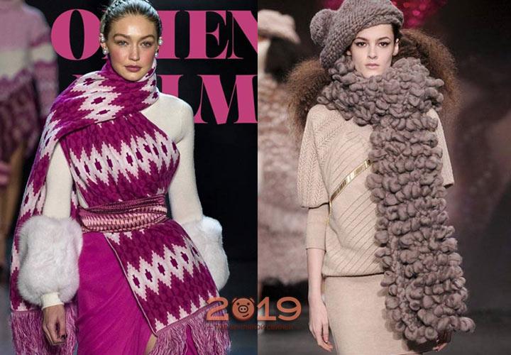 Стильные модели шарфов сезона осень-зима 2018-2019