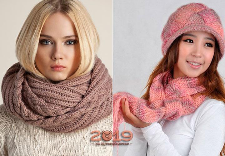 Красивые шарфы на осень 2018 года