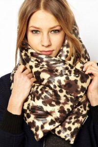 Модный стеганый шарф зима 2018-2019