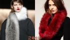Модный меховой шарф 2019 года