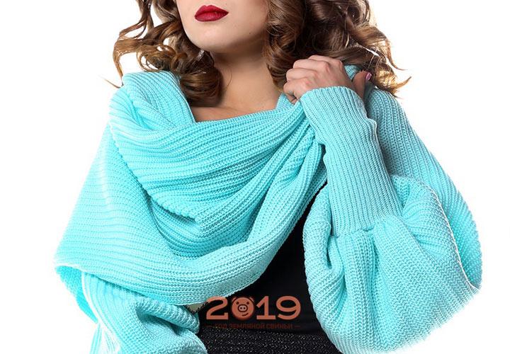 Шарф-рукав мода 2018-2019 года