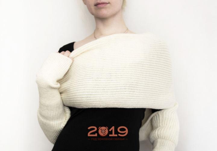 Шарф-рукава зима 2018-2019