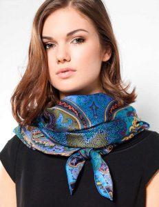 Шелковый шарф-платок