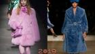 Модные цвета шуб 2019 года